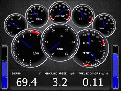 HDS - уровень топлива, вольтметр, лаг