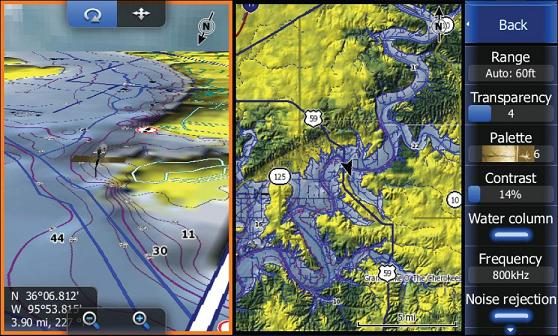 Навигация по карте Insight в режиме 3D (слева) и 2D.