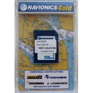 """Карта NAVIONICS GOLD """"Днепр, Средиземное, Черное и Азовское море (код 43XG)""""  для Lowrance, Eagle, Humminbird"""